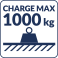 Charge max 1000kg