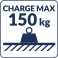 Charge max 150kg