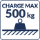 Charge max 500kg