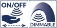 Dimmer / interrupteur sensitif intégré