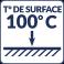 Température de surface : 100°