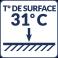 Température de surface : 31°