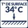 Température de surface : 34°