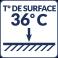 Température de surface : 36°