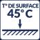 Température de surface : 45°