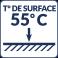 Température de surface : 55°