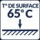 Température de surface : 65°