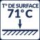 Température de surface : 71°