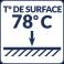 Température de surface : 78°